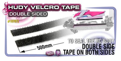 VELCRO TAPE WITH DOUBLE SIDED TAPE 8x500MM