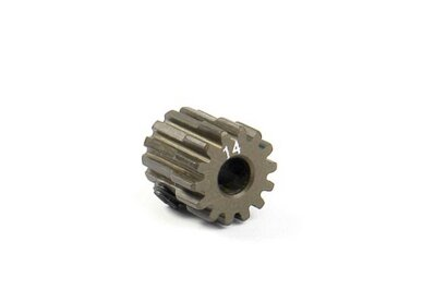 NARROW ALU PINION GEAR - HARD COATED 14T / 48