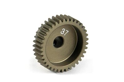NARROW ALU PINION GEAR - HARD COATED 37T / 64