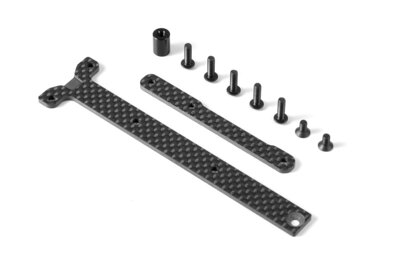 GRAPHITE CHASSIS BRACE UPPER DECK - SHORT PACK (2)